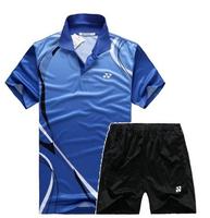New 2014 Li-Ning/butterfly Badminton men's Free LI-NING MEN SHIRT badminton shirt+shorts badminton shirt