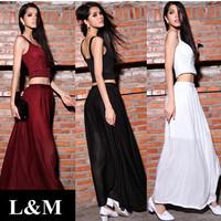 2014 New Dress Halter top Length Sexy Wholesale women clothing Elegant long dresses Fashion Summer European style