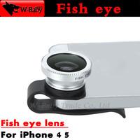 Fish eye lens Detachable U Clip fisheye lens for iphone 4 4s 5 5s 5c for ipad 2 3 Mini,1 pcs External Mobile phone lens
