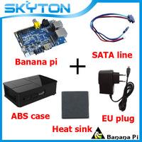 Original Banana Pi + Sata Line Cable 100% Copper Wire + Black Fashion ABS Material Case Box