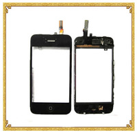 Black For iPhone 3G Mid Frame Bezel Glass Touch Screen Digitizer