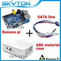 Original Banana Pi + Sata Line Cable 100% Copper Wire + White Fashion ABS Material Case Box For Banana Pi Free shipping
