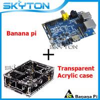 Original Banana Pi + Transparent Acrylic Case Box