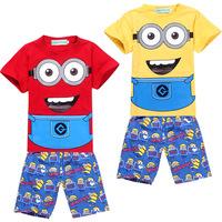Hot Sale kids pajamas Despicable baby girls boys sleepwear children Summer jumpsuit cartoon kids children tracksuits costumes