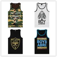 Brand men boy tank top BOY LONDON singlet vest mens tank tops shirt hiphop DGK hip  by air bob marley hba hip hop new york