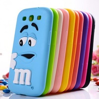 for samsung galaxy s3 MMS chocolate candy rubber case mobile phone protective back cases cover for samsung galaxy s III i9300