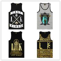 Brand mens BOY tank tops shirt LK LAST KINGS vest world of tanks singlet pyrex rhino hip hop brand swag bandana ktz swag mma