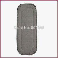 Factory Wholesale ( 200 pcs / lot ) 100% Bamboo Charcoal Fleece Diaper Insert .