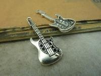 15pcs 12x38mm Antique silver The guitar Charm Pendant C4841