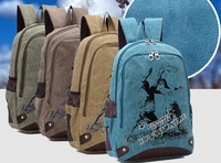 Free shipping fashion leisure women backpack New canvas sports bag Laptop bag DNB143