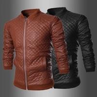 Men's PU leather Korean men zipper leather jacket Men's Fashion