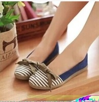 Autumn single shoes round toe bow shoes high quality women's comfortable flat shoes flat heel single shoes