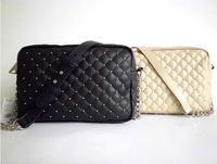 2014 new tide female MANGO MNG bag bag rivet yan sewing tote bag shoulder bag free shipping!