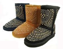 hot salefree shipping 100% Australian Studded fashion women snow boots high-grade sheepskin style(China (Mainland))
