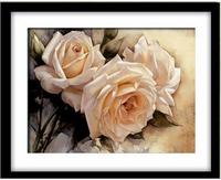 3D white rose cross stitch kit embroidery flower cross-stitch oil painting DIY handmade needlework set wall home decor