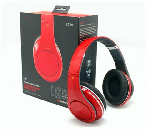 S750 2.1 headhand portátil auricular inalámbrico bluetooth auriculares con micrófono para mp4 mp3 teléfono de tableta computadora de envío gratis