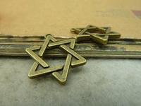 15pcs 17x20mm Antique bronze The pentagram Charm Pendant C4866