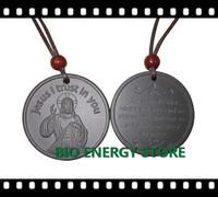 L009 24pcs/lot Jesus high negative ions Scalar energy pendant with original nano card
