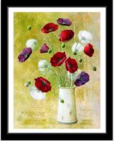 3D Poppy magnolia cross stitch kit silk embroidery flower cross-stitch oil painting DIY handmade needlework set home decor