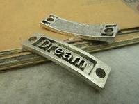 15pcs 10x36mm Antique silver The dream link Charm Pendant C4876