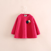 brand design children girl kids flower sweater pullovers knitwear 2-7 years