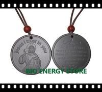 L009 60pcs/lot Jesus high negative ions with original nano card volcanic stone japanese quantum energy pendant