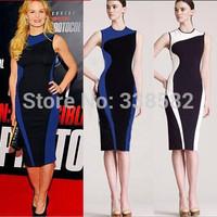 2014 New Women Elegant Slimming Sleeveless bandage dress, O-Neck Bodycon Party Evening Slim pencil Dress Plus Size S-XXL