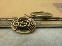 20pcs 18x21mm Antique bronze The Music score  Charm Pendant C4898