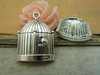 5pcs 23x30mm Antique silver The bird cage Charm Pendant C4904