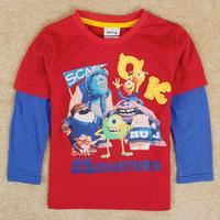 Boys clothing monster school kids boys t-shirts baby clothes boy's t shirt child tee shirt boys nova brand clothes A5142Y