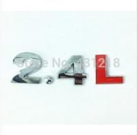 2.4L Turbo Metal Rear Trunk Emblem Badge Decal Sticker For Hyundai