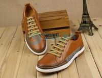 Free Shipping!!!  popular men's casual shoes fashion , real leather, Oxfords,Lace-up men shoes