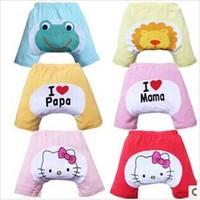 819 promotion Infant cartoon shorts cotton candy-colored pants big PP Pants
