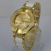 New Design Luxury Brand Women's Dress Watch Brilliant Shine Stylish GS Bracelet Wristwatch With Crystal Rhinestone