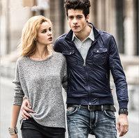 New autumn winter men's jacket,black/white/bule collar jacket ,free shipping