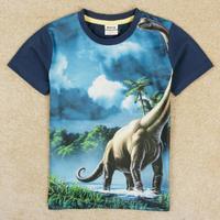 fashion roupa infantil boys clothes for summer boy's t shirt nova brand kids t-shirt short dinosaure children clothes C5049Y