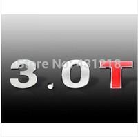 3.0T Turbo Metal Rear Trunk Emblem Badge Decal Sticker For Chrysler Mitsubishi Dodge