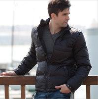 New Winter men's down jacket,black down wear,90% white duck down Down coat,free shipping