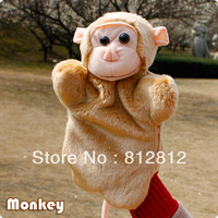 Monkey hand puppet toys for SALE played for children new plush toy 12 pieces/lot