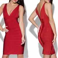 BeautyWill Women's Sensual V-shaped Party Bandage Dress