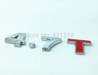 4.7T Turbo Metal Rear Trunk Emblem Badge Decal Sticker Car tail styling sticker