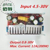 Free Shipping 10PCS/lot 12A 200W Adjustable DC-DC Step Down Converter Buck Module 4.5-30V to 0.8-32V