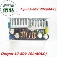 free shipping 10pcs/lot  10A 160W Adjustable DC-DC 8-40V Step Up 12-60v Converter booster module 12v to 24v 48v