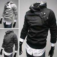 High collar coat 2014 arrival top brand men's  Hoodies  Sweatshirts windbreaker jacket Color: 5 colors Size M-XXXL Free shipping