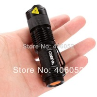 2pcs/lot  CREE XML- Q5 7w 450lm Zoomable mini lanterns Flashlight  LED torch lamp light