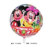 Party supplies wholesale aluminum balloon classic children's toy factory direct selling circular transparent Mickey Minnie