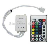100pcs/lot 28 keys rgb ir led controller DC5V 12v - 24v for 5050/3528 led strip light and RGB LED module