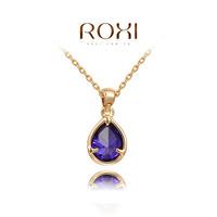 Roxi pendant jewelry austria crystal rose gold purple teardrop necklace   2030210430