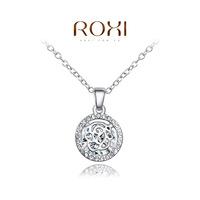 Roxi jewelry pendant austria crystal platier cutout rose necklace   2030214490