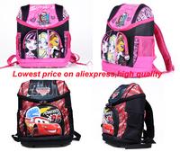 hot new arrival Fashion Brand Design Children Girl's Oxford cars school bag Skull Backpack Cartoon MONSTER HIGH school backpack